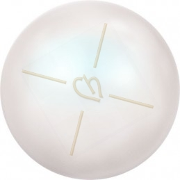 Swarovski boules nacrée 6mm demi percée Pearlescent White Pearl