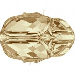 Swarovski Scarab Bead 12mm Golden Shadow