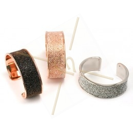 stijve armband metaal 24mm breed rose goud