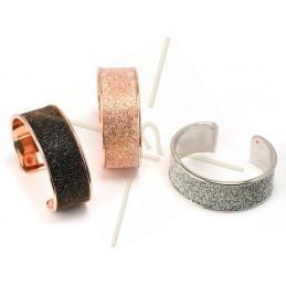 stijve armband metaal 24mm breed rose goud