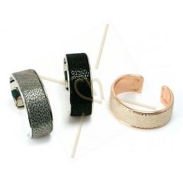 bracelet metal rigide 24mm largeur argent