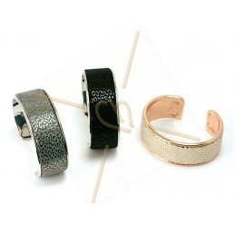 stijve armband metaal 24mm breed silver