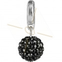 Becharmed Pave Ball 8mm Hematite (280)