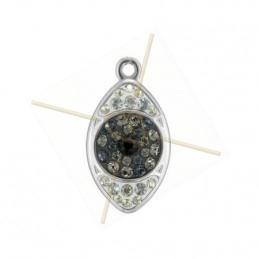 Becharmed Pave Eye 20mm Hematite