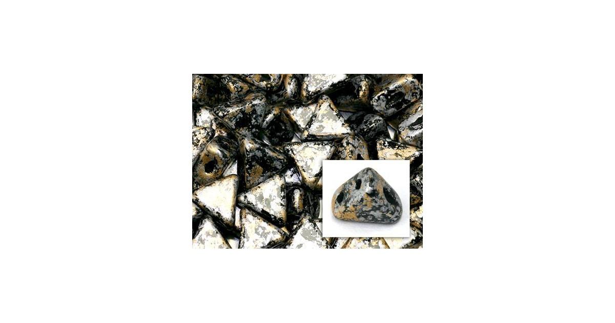 Kheops® Par Puca® perles 6mm Tweedy Gold