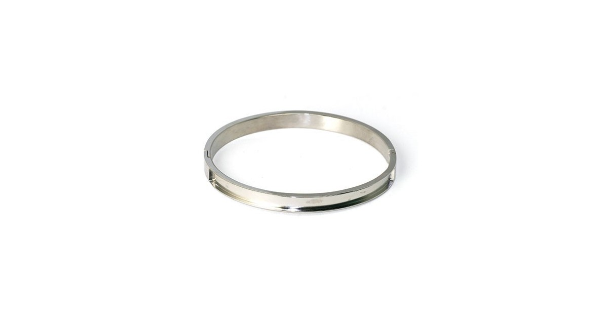stijve armband staal 7mm breed