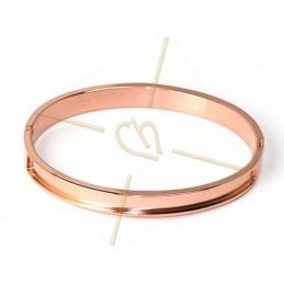 bracelet acier rigide 7mm largeur