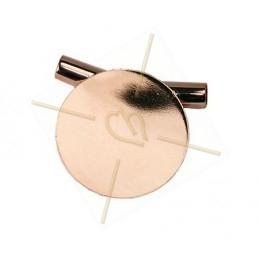 metalen bol met sterren 15mm rose goud