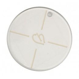 pendentif resine ronde 44mm transparant