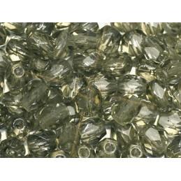 Fire Polished beads 4mm  Black Diamond