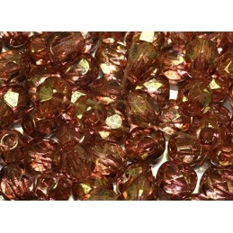 Perles a facettes 4mm  Cristal Red Luster