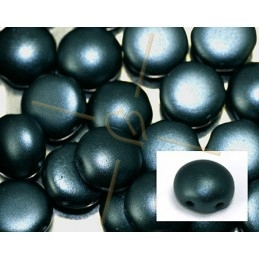Candy beads 8mm 2-hole Pastel Hematite