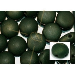 Candy beads 8mm 2-hole Fern Green Mat