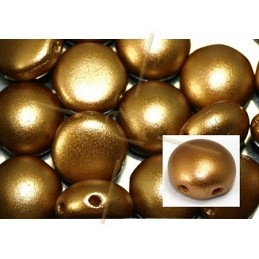 Candy beads 8mm 2-hole Pastel Amber