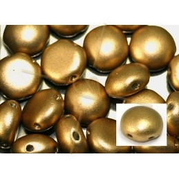 Candy beads 8mm 2-hole Gold Mat