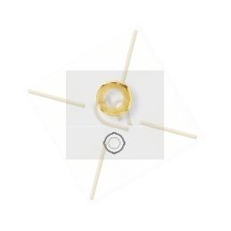 plat leder beige 5mm met strass