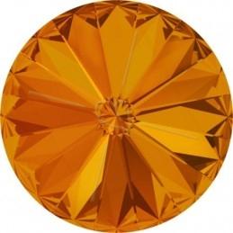 1122 - 12mm Rivoli Swarovski Tangerine 259