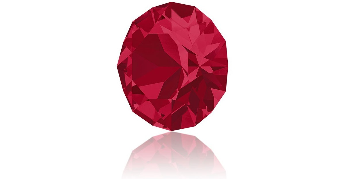 1088 - PP24 - 3mm Ruby unfoiled 501