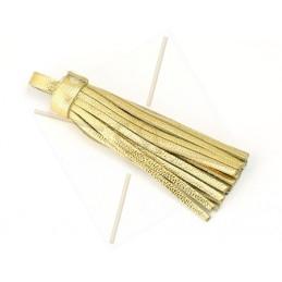 Tassel leather 75mm gold