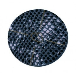 leather pastilles 30mm Snake Blue