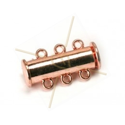 Clasp slider 3-row tube rose gold