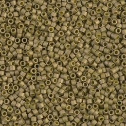Delica olive gold metal mat