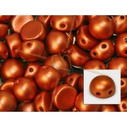 cabochon bead 2-hole 6mm COPPER