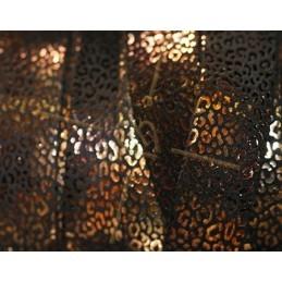 Cuir plat 20mm leopard metal renforcé noir or