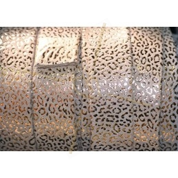 leather flat 20mm leopard metal sand