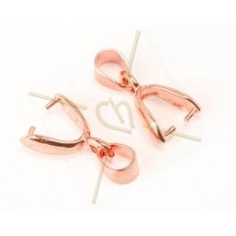 Boucles d'oreille Or Rose avec 1088 SS39 Bronze Shade