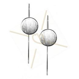 Boucle d'oreilles elegante ronde 15mm