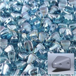 Nib-Bit bead 6*5mm Crystal Blue Luster