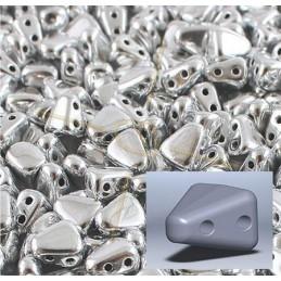 Nib-Bit bead 6*5mm Aluminium Matte