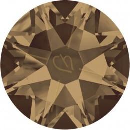 leder plat 5mm met metal bol lichtrose