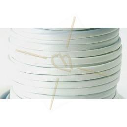 cuir plat 3mm blanc