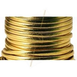 leder plat 3mm gold