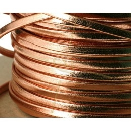 leder plat 3mm rose gold