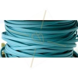 leder plat 3mm lichtblauw