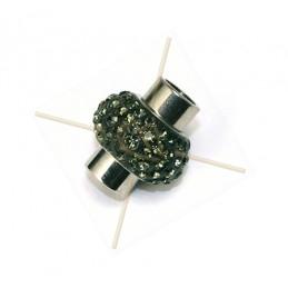 Magneetslot voor 6mm met Strass Swarovski Black Diamond 215