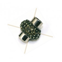Magnetic clasp for 6mm with Swarovski Strass Black Diamond 215