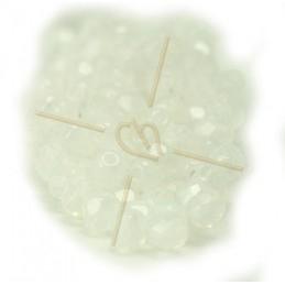 Perles a facettes 4mm  White Opal