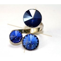 adjustable ring silver .925 for Swarovski 8-10-12mm 1122 rivoli