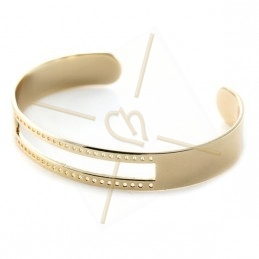 bracelet metal rigide  à tisser 10x58mm