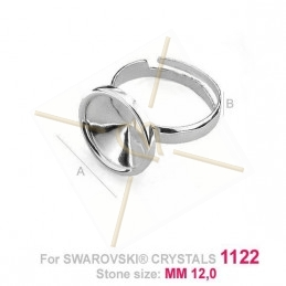 Ring silver .925 for 1x12mm 1122