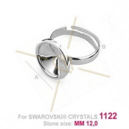 ring zilver .925 voor 1x12mm 1122
