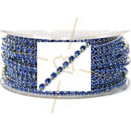 ketting staal met strass pp18 Sapphire