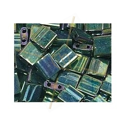 Tilla bead vert metal iris