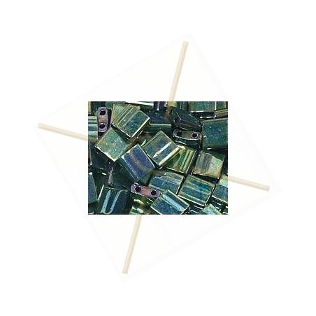 Tilla bead groen metal iris