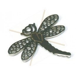 "pendant steel ""dragonfly"" 33*39mm"