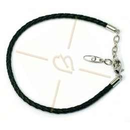 Swarovski black leather bracelet for Becharmed beads